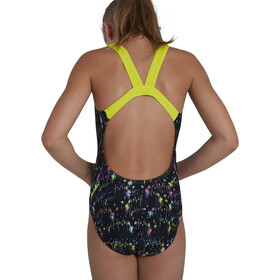 speedo Digital Placement Leaderback Swimsuit Girls, negro/Multicolor